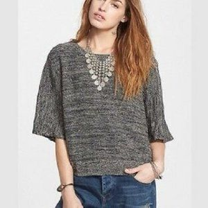 Free People Rising Sun Split Back Marled Pullover Sweater XS